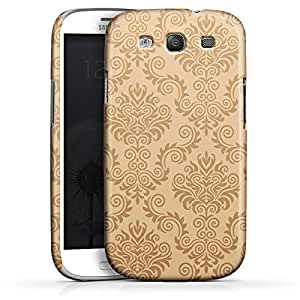 Carcasa Design Funda para Samsung Galaxy S3 i9300 / LTE i9305 PremiumCase white - Brown Pattern