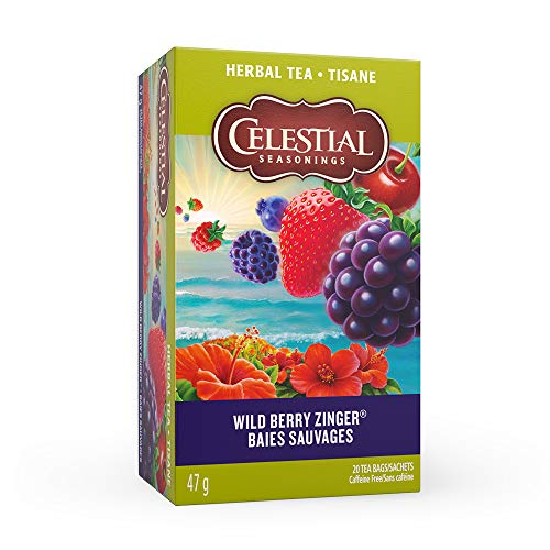 (Celestial Seasonings Herb Tea Wild Berry Zinger, 20-count (Pack of 6) )
