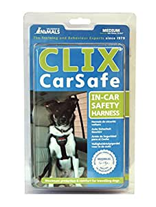 The Company of Animals CLIX CARSAFE Dog Harness - Multi-Purpose Car Seat Belt and Walking Harness - Easy, Adjustable, Secure and Safe - Medium