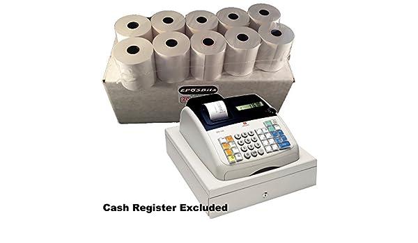 EPOSBITS® - 20 rollos de recibos - 1 caja para Olivetti ECR 7100 ECR7100 Cash Register: Amazon.es: Oficina y papelería