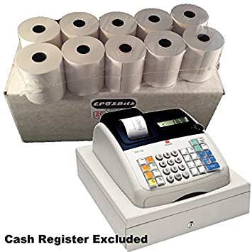 eposbits® marca 20 recepción rollos - 1 caja para Olivetti ECR 7100 Caja registradora ecr7100: Amazon.es: Oficina y papelería