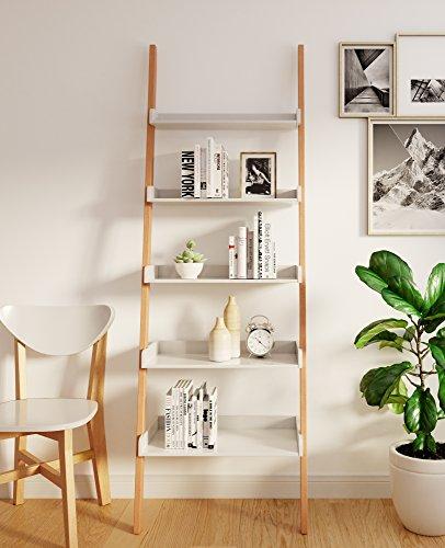 Universal Expert FUBC10006A Remus Ladder Bookshelf, Oak/White