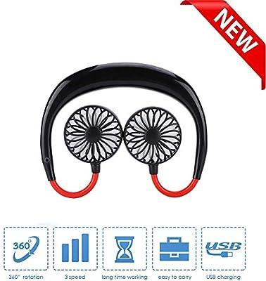 Yizhet Ventilador Cuello Ventilador USB Portátil Mini Ventilador ...