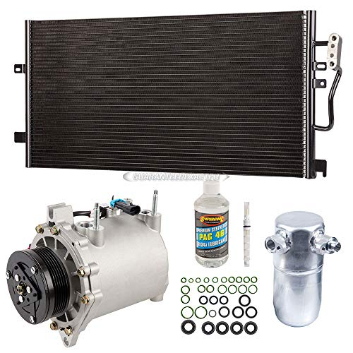 Cadillac A/c Seville Condenser - A/C Kit w/AC Compressor Condenser & Drier For Cadillac Seville 1998-2004 - BuyAutoParts 60-89181CK New