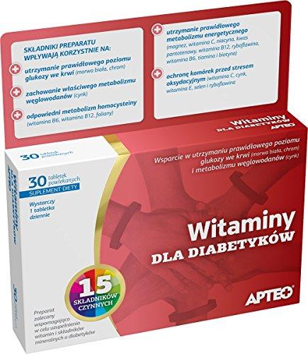 Vitaminen für Diabetiker APTEO 30 Tabletten