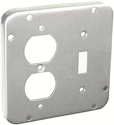4-11//16 Inch Square 1//2 Inch Raised Duplex Receptacle 1.62 Industrial Surface Cover-2 per case