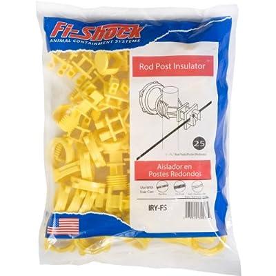 Fi-Shock IRY-FS Screw-On Insulator, Yellow