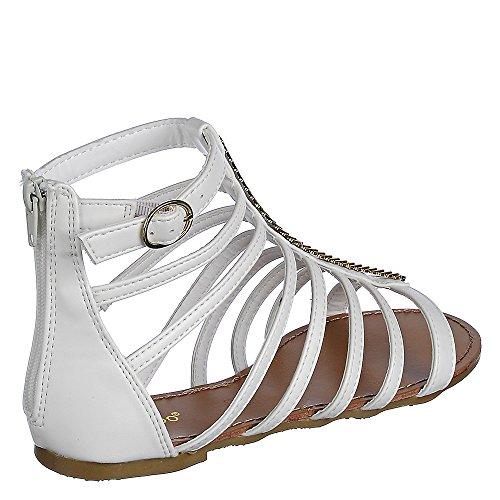 Sandalo Di Bambù Fenchel-34 Bianco