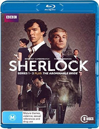 Sherlock Series 1-3 and The Abominable Bride | 8 Discs | NON-USA Format | Region B Import - Australia