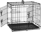 AmazonBasics Double-Door Folding Metal Dog Crate – 24 Inches For Sale