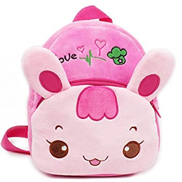b43dd29b82 Amazon.com   Baby Girl Toddler Rabbit Backpack Rucksack