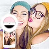 Selfie Ring Light, Selfie Light Ring Brightness Rechargeable Selfie Lighting Ring For iPhone Samsung Galaxy