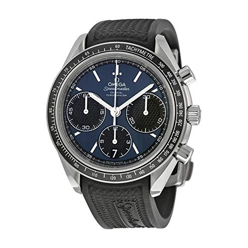 Automatic Omega Watch Wrist (Omega Speedmaster Racing Automatic Chronograph Blue Dial Stainless Steel Mens Watch 32632405003001)