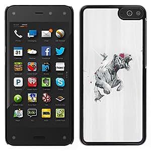 Stuss Case / Funda Carcasa protectora - Tiger Rose Paloma - Amazon Fire Phone