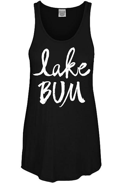 fe1d9838b3ff6 Amazon.com  COLORBEAR Women s Lake Bum Graphic Scoop Neck Tank Top ...