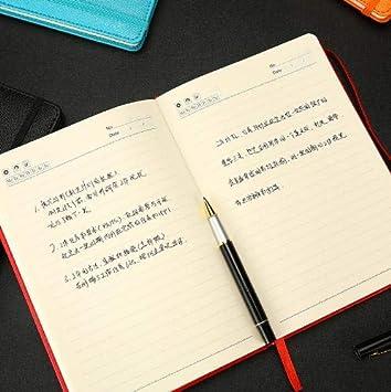 ShAwng Cuaderno de Cuero A5 Bloc de Notas Diario de la ...