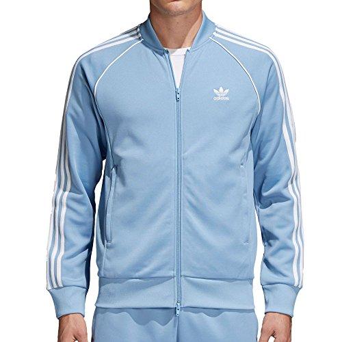 adidas Originals  Men's SST Track Top Ash Blue Medium -