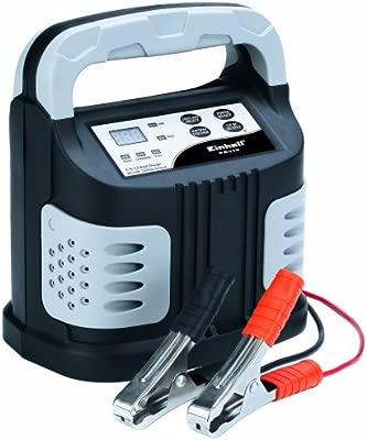 Einhell 1002200 Cargador para batería, Negro, Plata