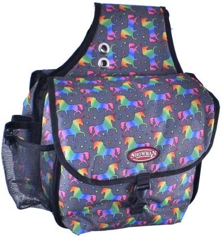 Showman UNICORN Printed INSULATED Nylon BOTTLE CARRIER /& Pocket fits Cell Phone