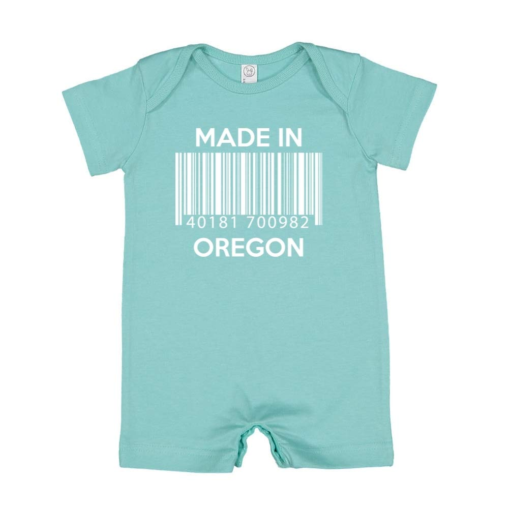 Baby Romper Barcode Made in Oregon