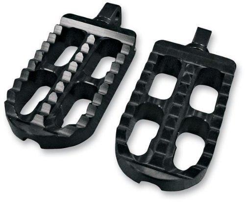 Joker Machine Adjustable Serrated Footpegs - Long - Black Anodized ()