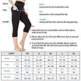 HIGHDAYS High Waist Yoga Pants for Women Capri