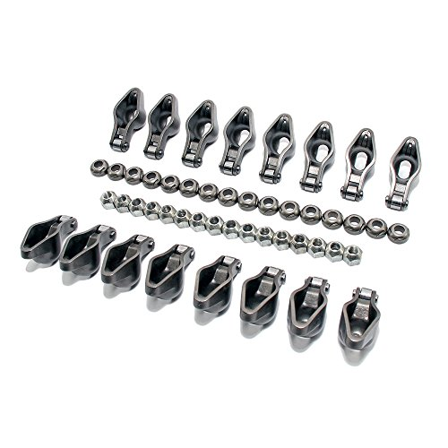 Assault Racing Products 45417716LN Big Block Chevy Steel Roller Tip Rocker Arms 1.7 Ratio 7/16 Lock Nuts BBC 396 454