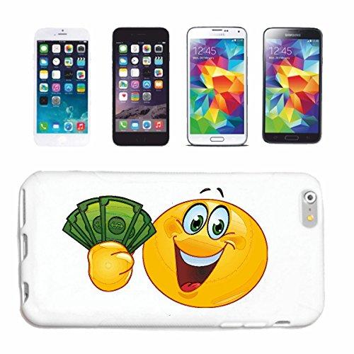 """cas de téléphone iPhone 5C """"sourire de EMOTICON de RICH SOURIANT DE LETTRES D'ARGENT """"SMILEYS SMILIES ANDROID IPHONE EMOTICONS IOS APP"""" Hard Case Cover Téléphone Covers Smart Cover pour Apple iPhone e"""