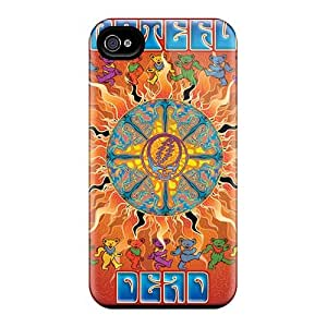 Durable Hard Cell-phone Case For Iphone 4/4s (mub2546lOBF) Customized Beautiful Grateful Dead Band Series