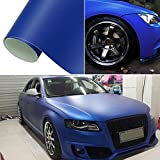 HOHO Dark Blue Matte Wrap Vinyl Car Sticker Auto Vehicle Styling Film with Air Bubble Free 60''x98ft Roll