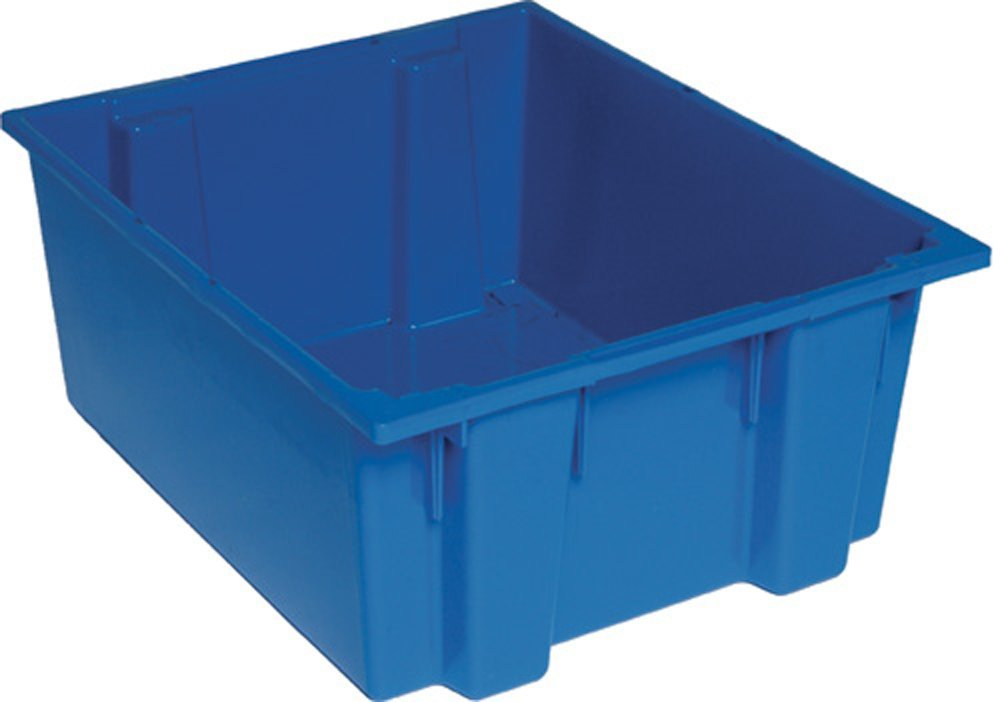 Quantum SNT225BL 23-1/2-Inch by 19-1/2-Inch by 10-Inch Stack and Nest Tote, Blue, 3-Pack
