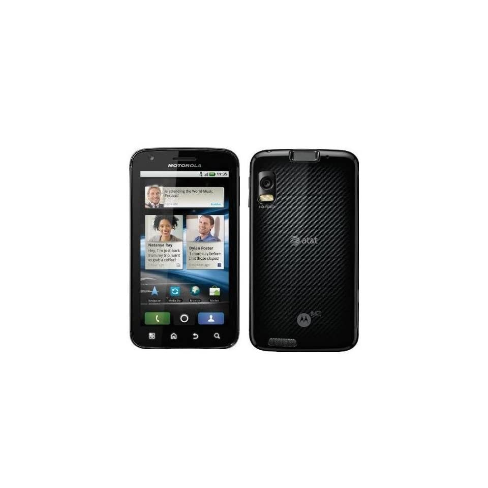 Motorola Atrix 4G MB860 Unlocked GSM Phone with Android 2.2 OS, Dual Core, 5MP Camera, GPS, Wi Fi and Bluetooth   Black Cell Phones & Accessories