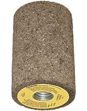 """Norton Gemini Snagging Abrasive Plug, Type 18R, Round Tip, Aluminum Oxide, 5/8""""-11 Arbor, 2"""" Diameter, 3"""" Thickness, 24 Grit (Pack of 10)"""
