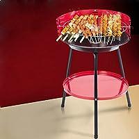 Holzkohlegrill schwarz XXL Charcoal Grill Camping Balkon Garten Picknick ✔ rund dreieckig ✔ tragbar ✔ stehend grillen ✔ Grillen mit Holzkohle ✔ mit Dreibeinen