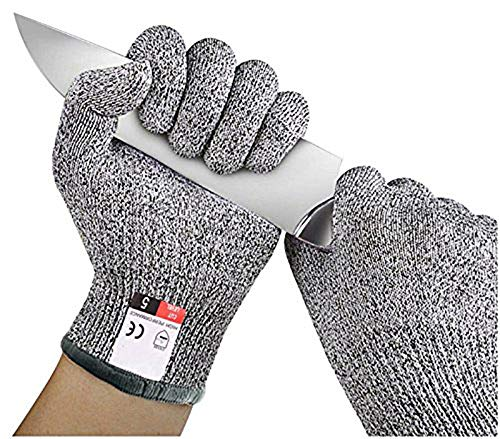 BADASS SHARKS Anti-cut Gloves Safety Cut Proof Stab Resistant Stainless Steel Wire Metal Mesh Kitchen Butcher Cut-Resistant Safety Gloves (Small) (Butchers Stainless Steel Glove)
