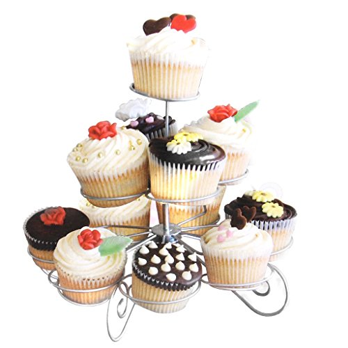 3 Tier 13-Cup Metal Christmas Tree Cupcake Stand Party Supplies