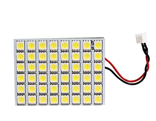 GRV Ba9s T10 Festoon 48-5050SMD Cool White DC 12V Super Bright RV Car Panel Interior LED light Pack of 2