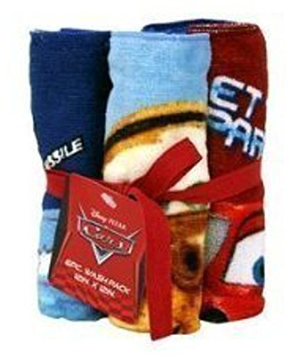 Disney Pixar Cars Lightning McQueen Mater McMissile Washcloth Bundle 12