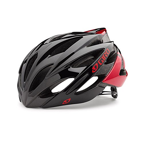 Giro Savant Road Bike Helmet, Bright Red/Black, Small
