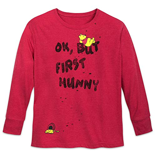 (Disney Winnie The Pooh ''OK, But First Hunny'' T-Shirt for Women Size Ladies M Multi)