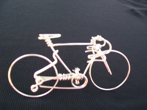 Handcrafted Mens Road Bike Small ~Unique Biking Birthday Gifts for Cyclists as Cake Toppers ~One Whole Aluminum Wire w/ No Single Break ~Metal Vintage Bicycle Art Decor as Cycling Biker Gifts for Him - Haro Seats