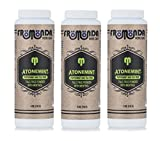 Fromonda Atone Mint Talc Free Body Powder With Cooling Menthol - Natural Dry Deodorant With Spearmint & Tea Tree Oil Essential Oils – 5 OZ Pack of 3