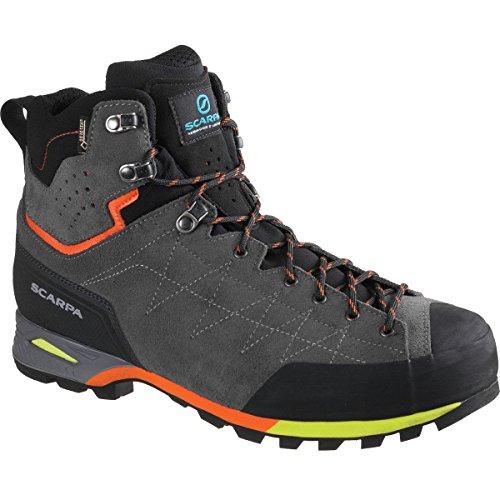 SCARPA Men's Zodiac Plus GTX Hiking Boot, Shark/Orange, 46 EU/12 M US - Plus Gtx Boot