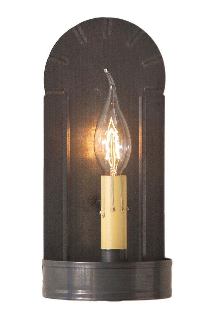 Metal Wall Sconces Fireplace Sconce In Blackened Tin 4.5 X 10 X 3.5 Inches Blackened Tin