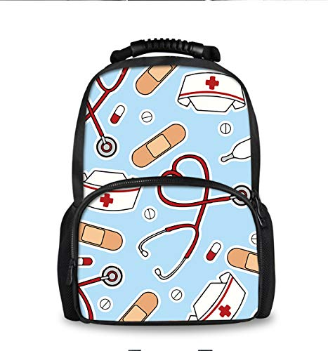 (School Bookbags for Teens, Fashion Backpack College Bags Young People Daypack (Nurse Appliance))