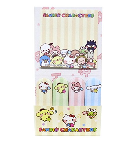 Sanrio Characters Petite Fabulous Sticky Note Set Japan Special Hello Kitty & Friends