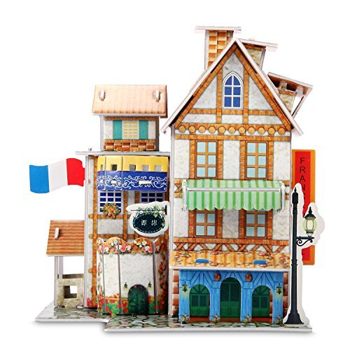 3D Puzzle Jigsaw Educational toys DIY for kids Hotel 32-piec