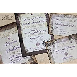 A Destination to Remember Wedding Invitation Sample Set