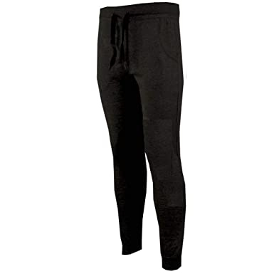 e650f476da Mens Slim Skinny Fit Designer Stretch Joggers Bottoms Jogging Gym
