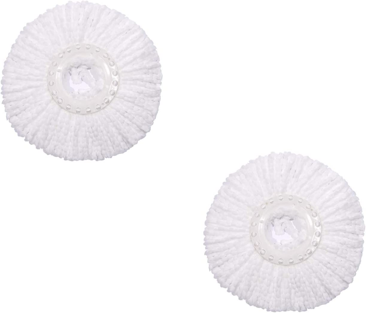 2 Pack Spin Mop Refill for Hurricane Magic 360° Spin mop Microfiber Mop Head Replacement - Round Shape Standard Size Hurricane Compatible Mop Head Replacement